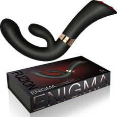 ROCKS OFF Enigma Black G-Spot Rabbit Curved Vibrator