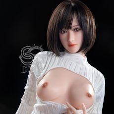 SE 160cm C-cup ROSINE Realistic FULL SILICONE Sex Doll  SED125