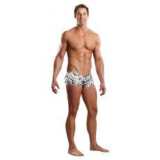 Male Power Zipper Short-White-Small