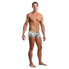 Male Power Zipper Short-White-Extra Large