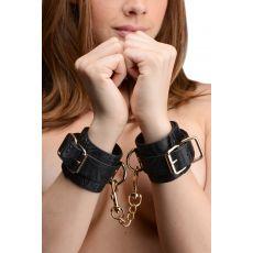 Captured Embroidered Wrist Cuffs Black