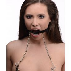 Seize O-Ring Gag With Nipple Clamps