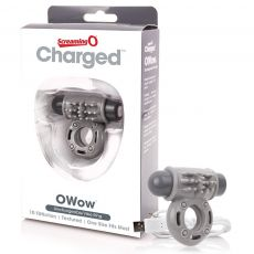 Charged O Wow - Grey Vibrating Couples Penis Cock Ring