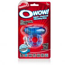 O Wow - Blue Vibrating Couples Cock Penis Ring