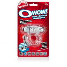 Screaming O Wow - Clear Vibrating Cock Penis Ring