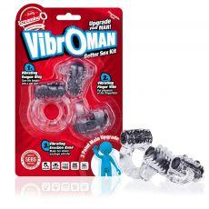 Vibroman - Black Vibrating Couples Cock Penis Ring