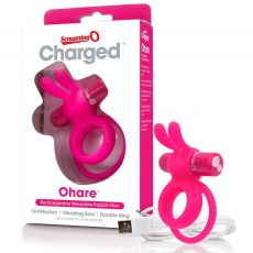 Charged Ohare Couples Vibrating Cock Penis Ring USB Pink