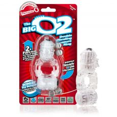 BigO 2 Double Vibrating Couples Cock Penis Ring Clear