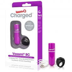 Charged Vooom Remote Control Vibrating Bullet Purple