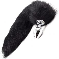 Stainless Steel ANAL BUTT PLUG Faux Fur Fox Cat Tail