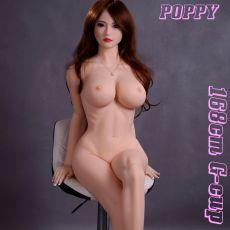 AF 168cm G-cup POPPY Realistic TPE Sex Doll