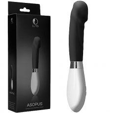 Luna Asopus G-Spot Ribbed Tip Vibrator Massager Wand Clitoral Stimulator Black