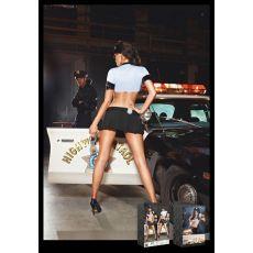 Police Wom Chemise Skirt Badge Headwear