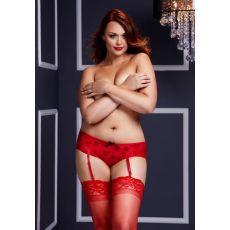 Red Rose Open Crotch Boyshort Panty (D)