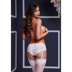 White Rose Open Crotch Boyshort Panty