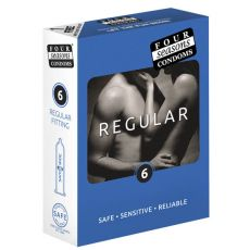 Four Seasons Regular Condoms 6-pack Retail Box
