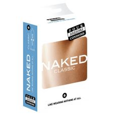 Four Seasons Naked Classic Condoms 6-pack Retail Box