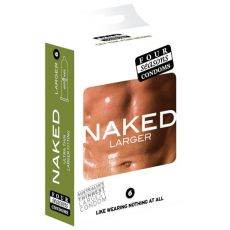 Four Seasons Naked Larger Fitting Condoms 6-pack Retail Box