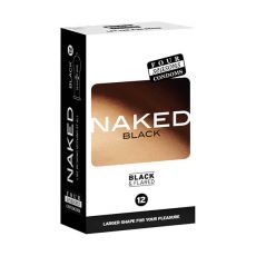 Four Seasons Naked Black Condoms 12-pack