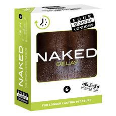 Four Seasons Naked Delay Condoms 6-pack Retail Box