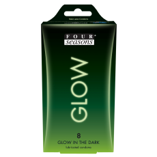 Condom 8pk Glow N Dark 54mm - (Sold In Packs Of 6)