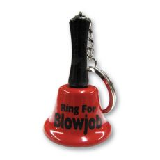 Ring For Blowjob Keychain Bell