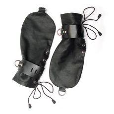KinkLab Leather Bondage Mittens