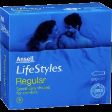Ansell Lifestyles Condoms 6's Regular