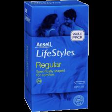 Ansell Lifestyles Condoms Regular 24's