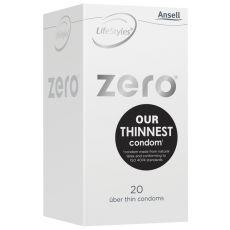 Ansell Lifestyles ZERO Condoms 20's