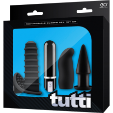Tutti Rechargeable Sex Toy Kit (Black)