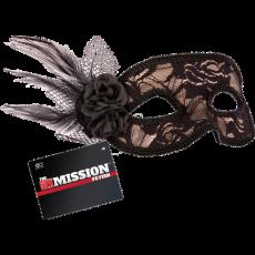 Feathered Lace Masquerade Masks (Black)