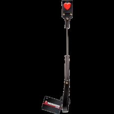 Heart Print Paddle Whip (Black)
