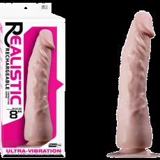 "8"" Vibrating Dong (Flesh)"
