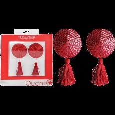 Nipple Tassels - Round (Red)