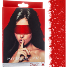 Mystere Lace Mask (Red)