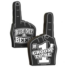 #1 Groom To Be Foam Hand