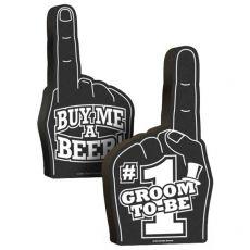 #1 Groom To Be Foam Hand
