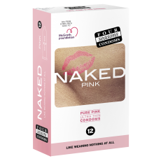 Condom Ultra Thin 12pk Naked Pink 54mm - (Sold In Packs Of 6)