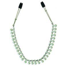 Midnight Pearl Chain Nipple Clips (D)