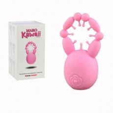 TD-1303PK-Maro Kawaii 4 USB Rechargeable clitoral stimulator & cock ring unisex
