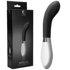 Luna Apollo G-Spot Vibrating Massager Wand Clitoral Stimulator Vibrator Black
