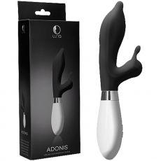 Luna Adonis G-Spot Vibrator Rabbit Massager Wand Clit Stimulator Black