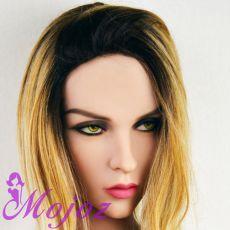 WM #159-A LINDSAY Realistic TPE Sex Doll Head