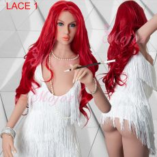 Long Lace Front Wig Wavy RED