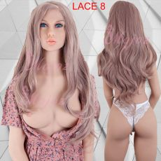Lace Front Wig Long WAVY STRAWBERRY BLOND