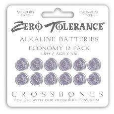 Crossbones LR44 Alkaline Batteries